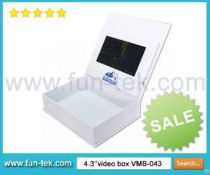 Effective Marketing Tool 4.3 Inch Lcd Video Box Vmb-043 With Light Sensor A5 256mb Flash