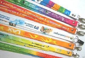 promotional gift ribbon strap printed heat transfer lanyard