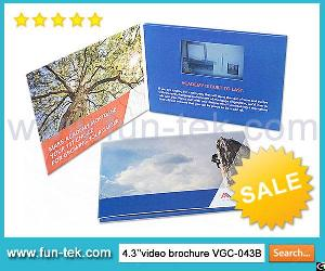 Chinese Video Brochures Lcd Direct Mailer Card For Advertising Products Or Services Vgc-043b