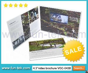 Perfect Video In Print Lcd Video Brochure Greeting Card Mailer Booklet Cmyk Printing A5 Size Vgc-043