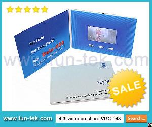 Promotional Video Cards Hard Cover Lcd Brochures Module Full Color Printing A5 Matte Finish Vgc-043