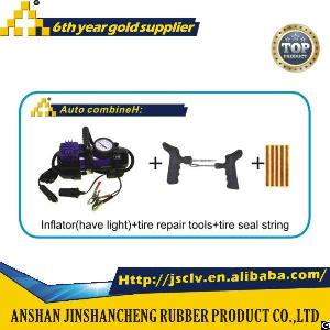 Auto Combine H Inflator Have Light Tire Repair Tools Tire Seal String