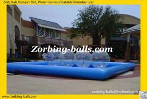 Inflatable Water Ball Pool, Swimming Pools For Walking Zorb Ball, Water Zorbing Playground Equipment