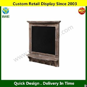 Wall Mounted Country Brown Rustic Wood Framed Memo Black Chalkboard Ym5-624