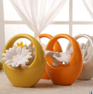 basket shape ceramic reed diffusers diffuser bottles