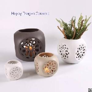 ceramic lantern candle holders cutout