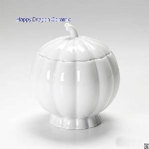 pumpkin ceramic candle containers vessels