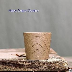 wood shape raw ceramic candle cups containers jars