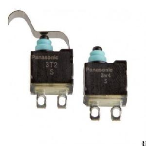 Subminiature Switch With A Long Stroke Panasonic Asqm16438