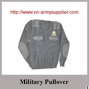 Camouflage Navy Blue Khaki Army Green Wool Acrylic Polyester Military Pullover Army Sweater Police
