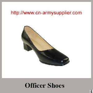 High Rank Full Grain Leather Army Police Officer Shoes