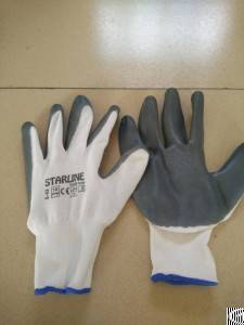 Nitrile Palm Coated Glove For General Use