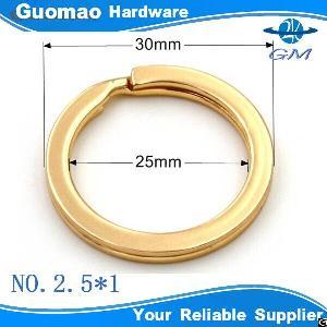 Light Gold Metal Keyring Split Ring For Handbag Keychain