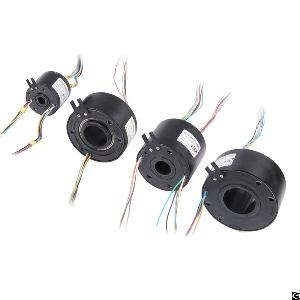 Slip Ring With Through Bore 96mm And 6, 12, 18 And 24 Circuits For Packaging Machine