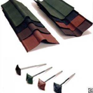 Bituminous Corrugated Roofing System, Roman Roof Tile