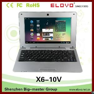 China Cheap 10 Inch Quad Core Touch Screen Laptop 2gb / 16gb