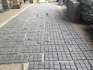 G684 Granite Cube Black Granite Flamed Pavers