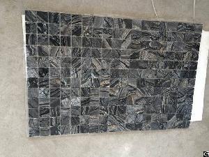 Zebra Black Marble Mosaic Tile