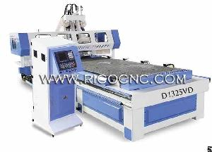 Economic Panel Furniture Nesting Wood Cnc Router With Drilling Boring Unit D1325vd