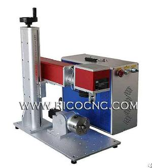 Fiber Laser Metal Marking Machine With Rotary Attachment
