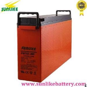 Sunlike Deep Cycle Front Terminal Telecom Battery 12v200ah For Projects