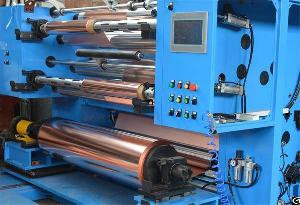 Highly Precise Copper Foil Slitter Rewinder For Minimum 0.006mm Thickness Foil Converting