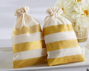 Cotton Pouch / Muslin Drawstring Bag / Wedding Bags