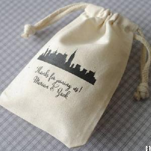 Jewelry Cotton Pouch / Gift Bag / Muslin Drawstring Bags