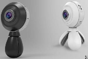 Top Sale Vr Camera 360 Degree With Dual Lens Fisheyes, 720 Degree No Dead Angle Record All Scence