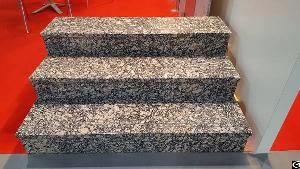 Golden Diamond Brown Chinese Granite Steps And Risers