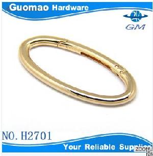 oval openable gold bag rings
