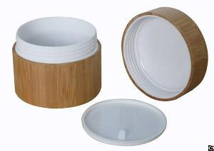 100ml Bamboo Jar With Pp Liner With Liner Lid, Bamboo Containar