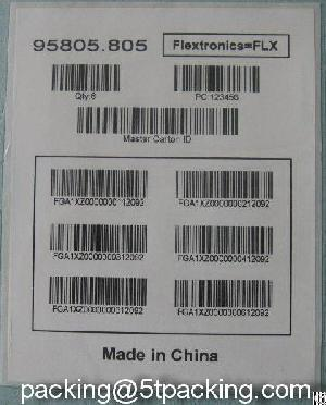Barcode Labels With Several Codes In One Sticker