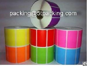 Colored Direct Thermal Printed Adhesive Labels In Warehouse And Electronics Products
