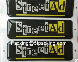 Silk Screen High Quality Streetad Resin Stickers
