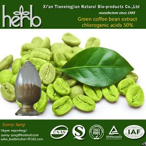 Green Coffee Bean Extract, Chlorogenic Acids50%, Cas No327-97-9