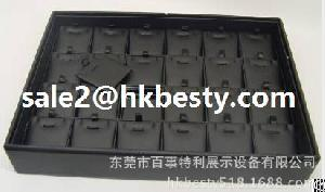 Black Jewellery Pendant Display Box With Glossy Pu