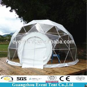 Geodesic Dome Tent With Frame Structure For Outdoor C&ing Party & Wedding Party Dome Tents Geodesic House Bell Tent Circle Outdoor ...
