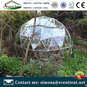 Clear Glass Greenhouse Tent Gl&ing Tent Steel Frame Geodesic Dome For Sale & Clear Glass Greenhouse Tent Glamping Steel Frame Geodesic Dome ...