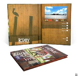 Hard Cover Lcd Display Greeting Card For Advertisement