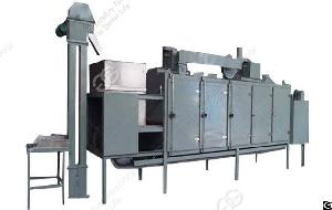 Stainless Steel Multifunctional Continuous Soybean Roaster Machine For Sale