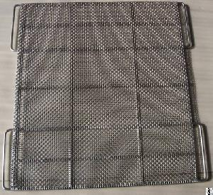 manufacutrer stainless steel woven mesh tray