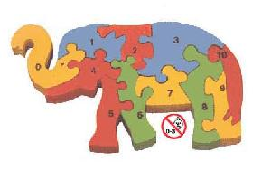 counting elephant jigsaw