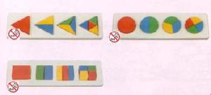 wooden fraction puzzle