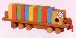 wooden cargo truck