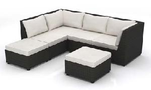 poly rattan sofa 05330