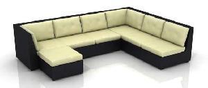 Resin Wicker Garden Sofa Set No. 05331