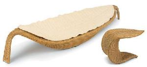 synthetic rattan sun lounge 05323