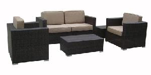 synthetic wicker outdoor sofa 05357