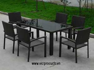 synthetic wicker table 06775